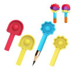 푸쉬팝 버블 연필 캡 깍지 끼우개 팝잇 실리콘 뽁뽁이