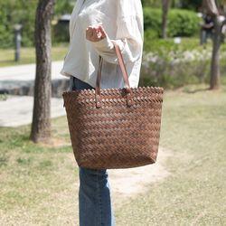 우드 바스켓 가방
