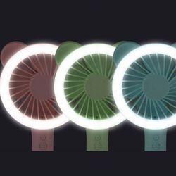 LED 꼬리 핸드선풍기 FAN-101 둥근귀(색상랜덤)