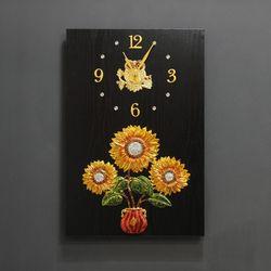 (kdyg024)해바라기벽장식시계(40X60)