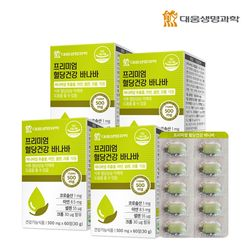 대웅생명과학 혈당건강 바나바 추출물 60정 4박스(8개월분)