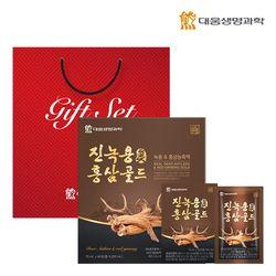 대웅생명과학 진녹용홍삼골드 60포 1박스(쇼핑백포함)