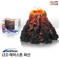 도핀 피쉬 LED 화산 에어스톤-수족관 어항 산소 기포확산기