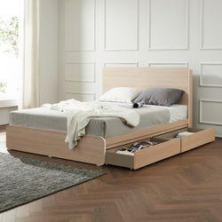 트리빔하우스 에리스 럭셔리 본넬스프링 서랍형 침대 QTB21F111