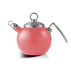 코카코 티볼 법랑주전자 1.2L 핑크 휘슬기능 물코마개