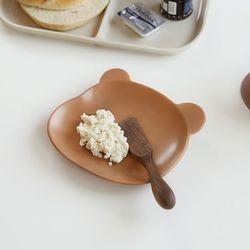 테디 디저트 홈카페 귀여운 접시 6인치