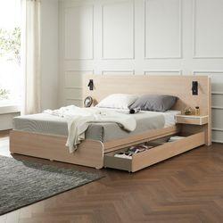 에리스 본넬스프링 서랍형 침대 퀸 협탁 2EA TB21F123