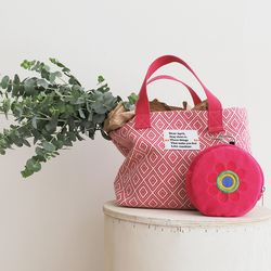 Summer tote bag (썸머 토트 백) pink