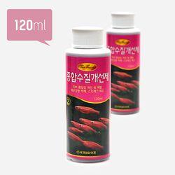투터치 수질개선제 120ml(대)(6개입)-열대어 백점병예방 물약