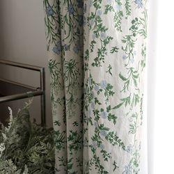 아나벨 꽃무늬 커튼 - S사이즈 (가리개 방커튼 거실)
