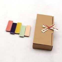 NEMO 달소금 핸드메이드 도자기 수저받침세트(5P)-유광SET