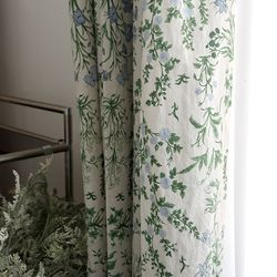 아나벨 꽃무늬 커튼 - M사이즈 (가리개 방커튼 거실)