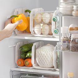 칸막이 길이 조절 냉장고 주방 정리 파티션 2p세트 2color