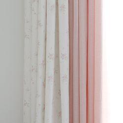 파스텔 꽃무늬 가림막 커튼-아이보리 S사이즈