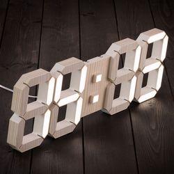 국산 루나리스 우드 3D LED 인테리어 벽시계 LG전구 38cm