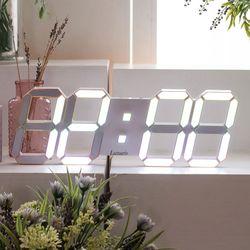 국산 플라이토 프리즘 3D LED 인테리어 벽시계 LG전구 38cm