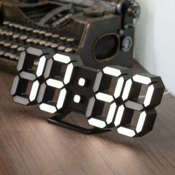 플라이토 3D LED 인테리어 탁상 벽시계 시즌3 LG전구 25cm