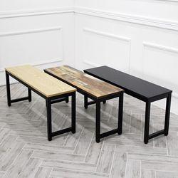 더조아 모던 벤치의자 2인용 식탁의자 간이 테이블 진열대 선반