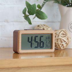 리얼우드 LCD 인테리어 탁상시계
