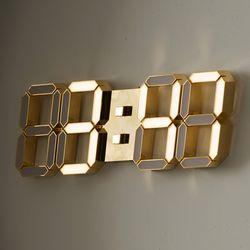 24K 금도금 샴페인골드 벽시계 LG전구 38cm