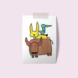 [drawingpaper] A3 포스터 - 동물삼총사