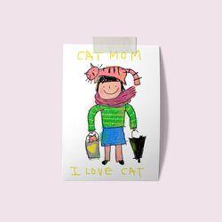 [drawingpaper] A3 포스터 - cat mom