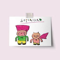 [drawingpaper] 엽서 - superhero