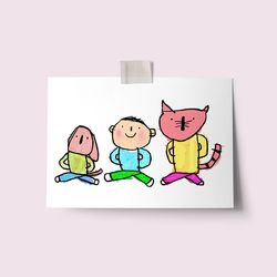 [drawingpaper] 엽서 - 같이걸어요
