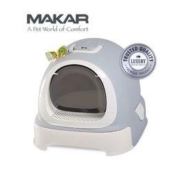 마칼 버블캣 후드화장실 - 그레이고양이화장실