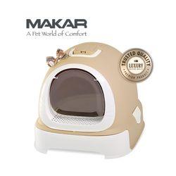 마칼 버블캣 후드화장실 - 브라운고양이화장실