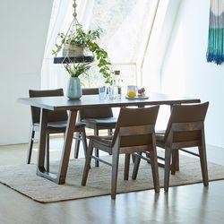 와트 코지 고무나무원목 4인용 식탁세트
