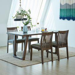 와트 제노 고무나무원목 4인용 식탁세트