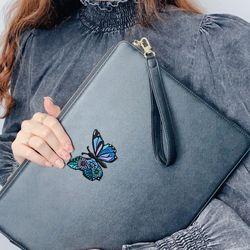 꽃나비 카드슬롯 클러치백 아이패드 노트북 파우치 111314151617