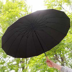 Daily 튼튼16k 일자형 우드 핸들 장우산 5color