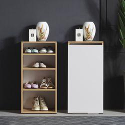 미니 틈새 현관 오픈형 신발 수납장 400 (2colors)