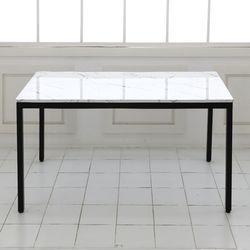 더조아 마블식탁테이블1200철제30각 대리석무늬