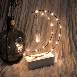 굿나잇 초승달 드림캐쳐 LED 무드등
