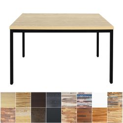 더조아 LPM1200x700테이블철제30각 다양한컬러 책상 식탁
