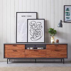 전면 원목 높은 티비다이 거실장 1800 (2color)
