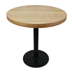 더조아 무늬목티테이블800원형3인치 인테리어 사이드 테이블