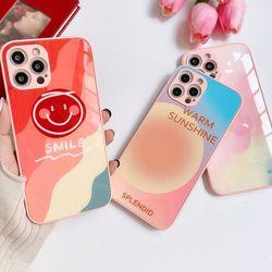 아이폰 12 11 미니 pro max 드로잉 강화유리 케이스