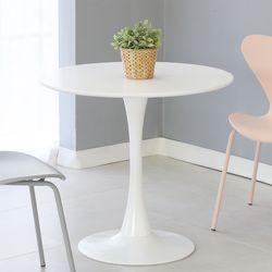 더조아 유니테이블800원형 화이트 식탁 라운드 테이블