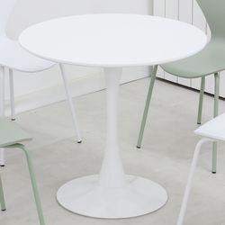 더조아 유니테이블1000원형 화이트 식탁 라운드 테이블