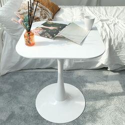 더조아 유니테이블600사각 화이트 식탁 라운드 테이블