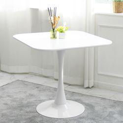 더조아 유니테이블800사각 화이트 식탁 라운드 테이블