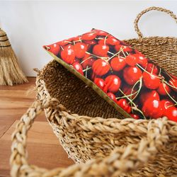 cherry cushion (솜포함)