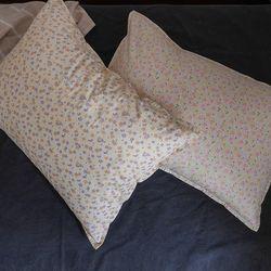 pastel flower pillow case