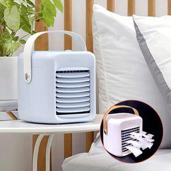 더위 싹 가시는 하루랩 LED 미니냉풍기