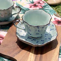 일제 아리타 400주년 한정 병아리꽃 5인조 찻잔세트 커피잔세트