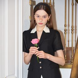Classic Linen Jacket_ Black